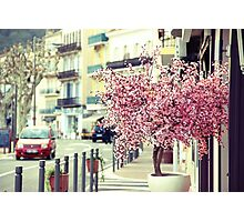 Spring and the city Photographic Print