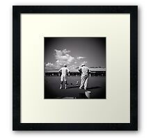 The moment of the truth Framed Print