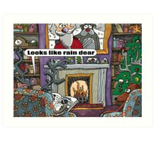 Looks Like Rain Dear Art Print