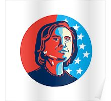Hillary Clinton American Elections Poster
