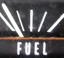 Almost Empty Caddilac fuel gauge Sticker