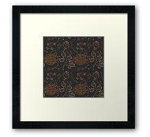 Ornate vector seamless pattern Framed Print