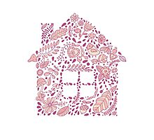 House shaped vector pattern Photographic Print