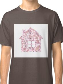 House shaped vector pattern Classic T-Shirt