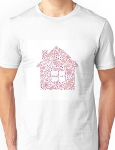 House shaped vector pattern Unisex T-Shirt