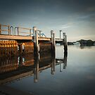 Sunrise on the Jetty by Clare Colins