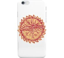 Plant Roots Field Sun Etching iPhone Case/Skin