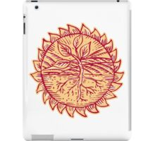 Plant Roots Field Sun Etching iPad Case/Skin