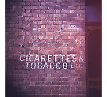 cigarettes & tobacco etc... Photographic Print