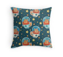 Astro squirrel pattern Throw Pillow