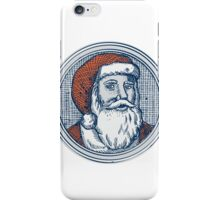 Santa Claus Father Christmas Vintage Etching iPhone Case/Skin