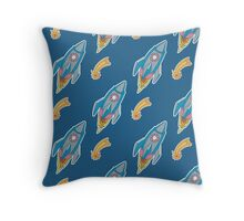 Rocket pattern Throw Pillow