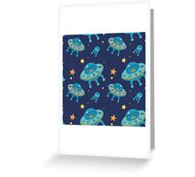 Ufo pattern Greeting Card