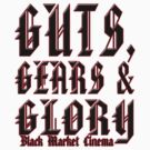 Guts,Gears and Glory moto-x rider t-shirt by dustyvinylstore