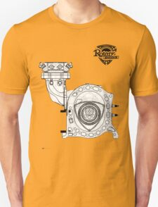 Mazda Rotary Engine Blueprint for Power 13B T-Shirt