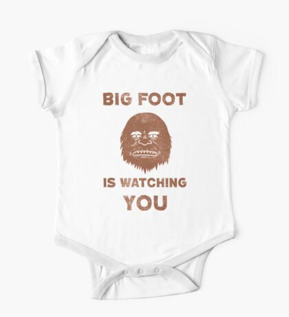 Big Foot Is Watching You One Piece - Short Sleeve