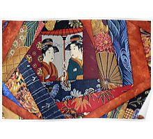 Japanese quilt detail Poster