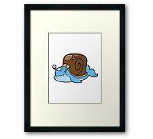 Snail Whale Framed Print