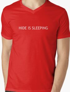 Hide is sleeping Mens V-Neck T-Shirt