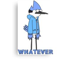 Regular show- Mordecai whatever Canvas Print
