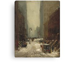 Robert Henri, Snow in New York 1902 Canvas Print