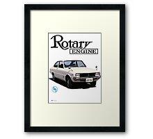 Mazda R10, R100 Rotary Engine Classic Framed Print