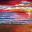 Magical Sunset - Seascape by © Linda Callaghan