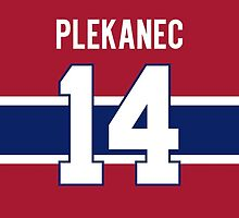 Montreal Canadiens Tomas Plekanec Jersey Back Phone Case by Russ Jericho