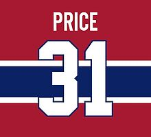 Montreal Canadiens Carey Price Jersey Back Phone Case by Russ Jericho