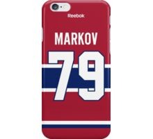 Montreal Canadiens Andrei Markov Jersey Back Phone Case iPhone Case/Skin