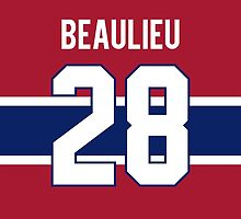 Montreal Canadiens Nathan Beaulieu Jersey Back Phone Case by Russ Jericho