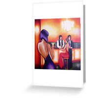 Having a Martini - Out on the town series Greeting Card