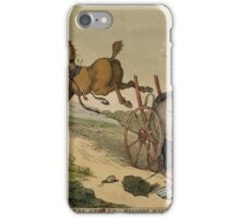 Rural Sports, Balloon Hunting, by T. Rowlandson iPhone Case/Skin