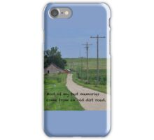 Old Dirt Road iPhone Case/Skin