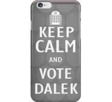 Keep calm and vote Dalek iPhone Case/Skin