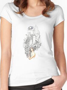 Sewer Princess Night Women's Fitted Scoop T-Shirt