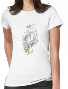 Sewer Princess Night Womens Fitted T-Shirt