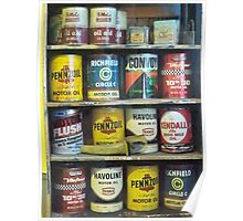 Vintage Motor Oil Can Collection Poster