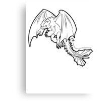 Toothless - Night Fury BLACK Canvas Print