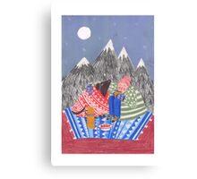 mountain coffee Canvas Print