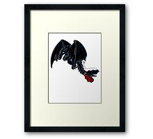 Toothless - Night Fury COLOUR Framed Print