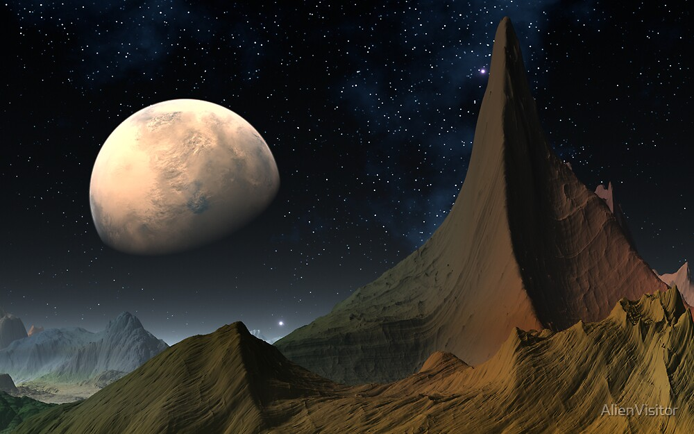 Mysterious Mars by AlienVisitor