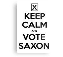 Vote Saxon - White Metal Print