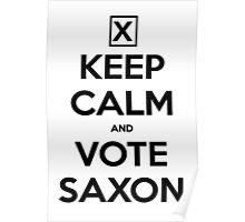 Vote Saxon - White Poster
