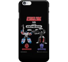 Transformers: Console Wars - OptiSNES vs. MegaGen! TEXT iPhone Case/Skin