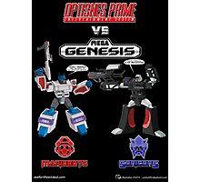 Transformers: Console Wars - OptiSNES vs. MegaGen! TEXT Photographic Print