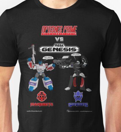 Transformers: Console Wars - OptiSNES vs. MegaGen! TEXT Unisex T-Shirt