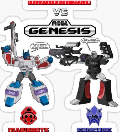 Transformers: Console Wars - OptiSNES vs. MegaGen! TEXT Sticker