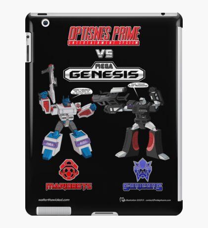 Transformers: Console Wars - OptiSNES vs. MegaGen! TEXT iPad Case/Skin