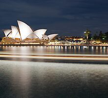 """ Streaking past .. The Sydney Opera House "" by Darren Gray"
